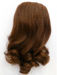 Sexy Wavy Brown Human Hair Hairpiece