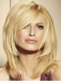 Hime Cut Blonde Capless Remy Human Hair Wigs