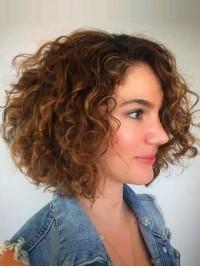 Big Volumn Bob Style Curly Human Hair Capless Wigs 12 Inches