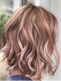 Two-Tones Medium Wavy Capless Human Hair Wigs 12 Inches