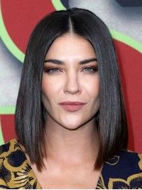 Jessica Szohr Central Parting Straight Lace Front Human Wigs 12 Inches