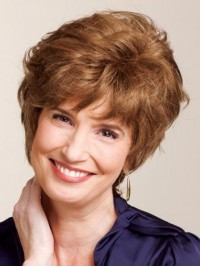 Layered Short Wavy Human Hair Capless Wigs 4 Inches