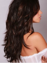 Wavy Long Capless Remy Human Hair 24 Inches