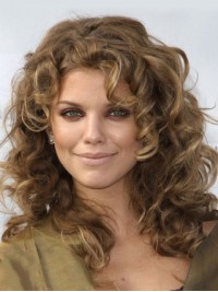 Light Brown Long Wavy Capless Remy Human Wigs