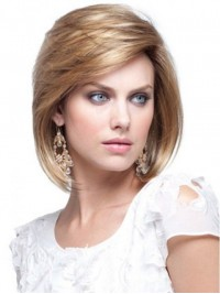 Blonde Straight Short Capless Remy Human Hair Wigs 10 Inches