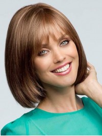 Full Lace Short Straight Human Wigs