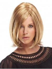 Short Blonde Straight Human Wigs
