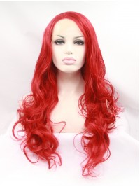 """30"""" Curly Red  Synthetic Lace Front Wigs"""