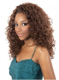 Afro-Hair Long Curly Capless Synthetic Wig Without Bangs 18 Inches