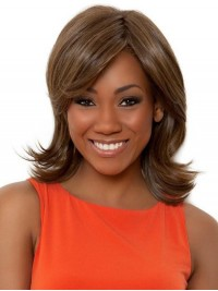 Brown Short Wavy Wig