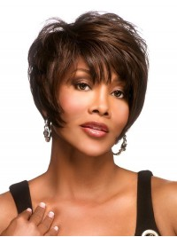 Brown Short Straight Wig