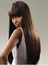 Brown Straight Long Wigs