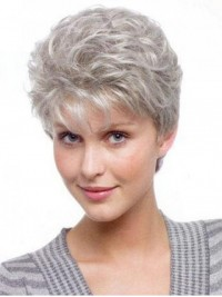 Short Curly Capless Synthetic Hair Wigs 6 Inches