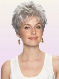 Short Curly Capless Synthetic Hair Wigs 4 Inches