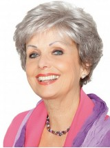 Gray Lace Front Short Synthetic Hair Wigs 4 Inches