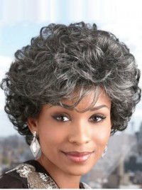 Short Curly Capless Synthetic Hair Wigs 8 Inches
