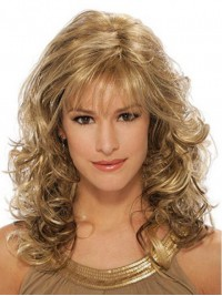 Blonde Long Wavy Capless Synthetic Wig