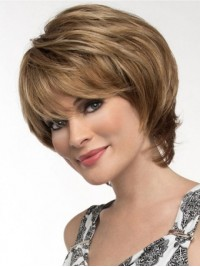 Short Straight Capless Synthetic Wig