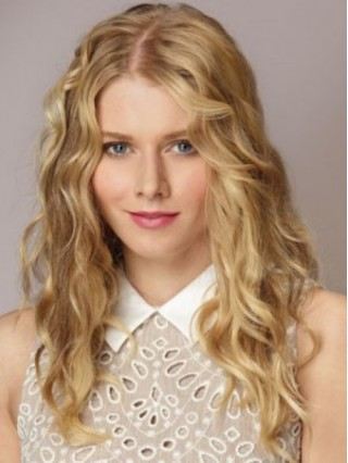 Long Blonde Lace Front Wavy Synthetic Wig