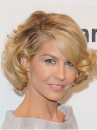 Blonde Lace Front Short Wavy Synthetic Wig