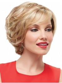 Blonde Short Wavy Full Lace Synthetic Wig