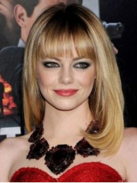 Blonde Wig Long Straight Capless Synthetic Wig