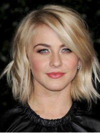 Blonde Short Straight Synthetic Lace Front Wig