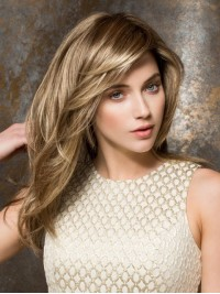 Blonde Long Straight Capless Synthetic Wig