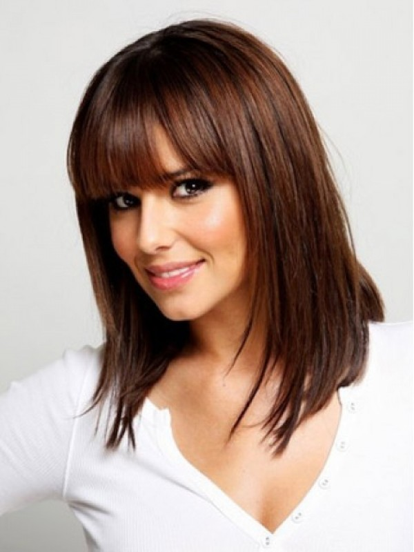 Medium Straight Capless Synthetic Wig