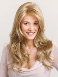 Blonde Long Wavy Lace Front Synthetic Wig