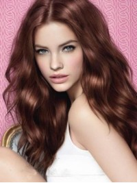Brown Wavy Long Synthetic Lace Front Wig