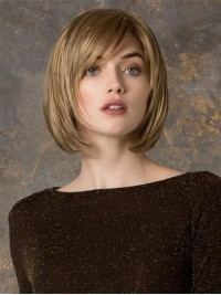 Blonde Straight Short Bob Full Lace Synthetic Wig