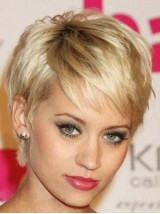 Blonde Short Straight Capless Synthetic Wig