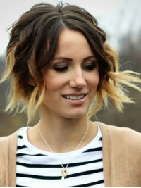 Short Wavy Human Hair Wigs