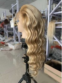 Fashion Ombre Long Wavy Lace Front Human Wigs