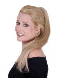 Straight Easy Claw Attach Synthetic Ponytail For Ladies