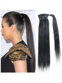 One Piece Straight Remy Human Hair Ponytail For Ladies