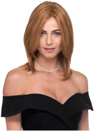 Central Parting Medium Blonde Human Hair Lace Front Wigs 12 Inches