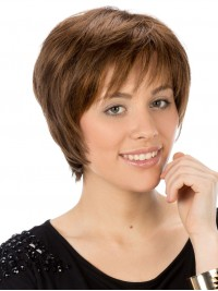 Straight Full Lace Synthetic Short Wigs